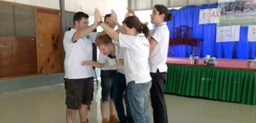 Teachers taking the TEFL hybrid course.