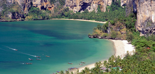 Beach at Phi Phi Islands in Thailand.